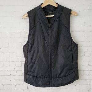 Prana Black Lightweight Vest Pockets Zip Front M